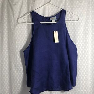 Purple Anthropologie linen Tank Top